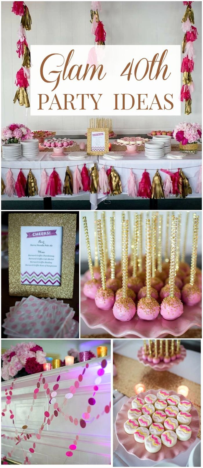"Elegant Birthday Decoration Ideas Fresh Glam 40th Birthday Party Birthday ""a Glam 40th Birthday"