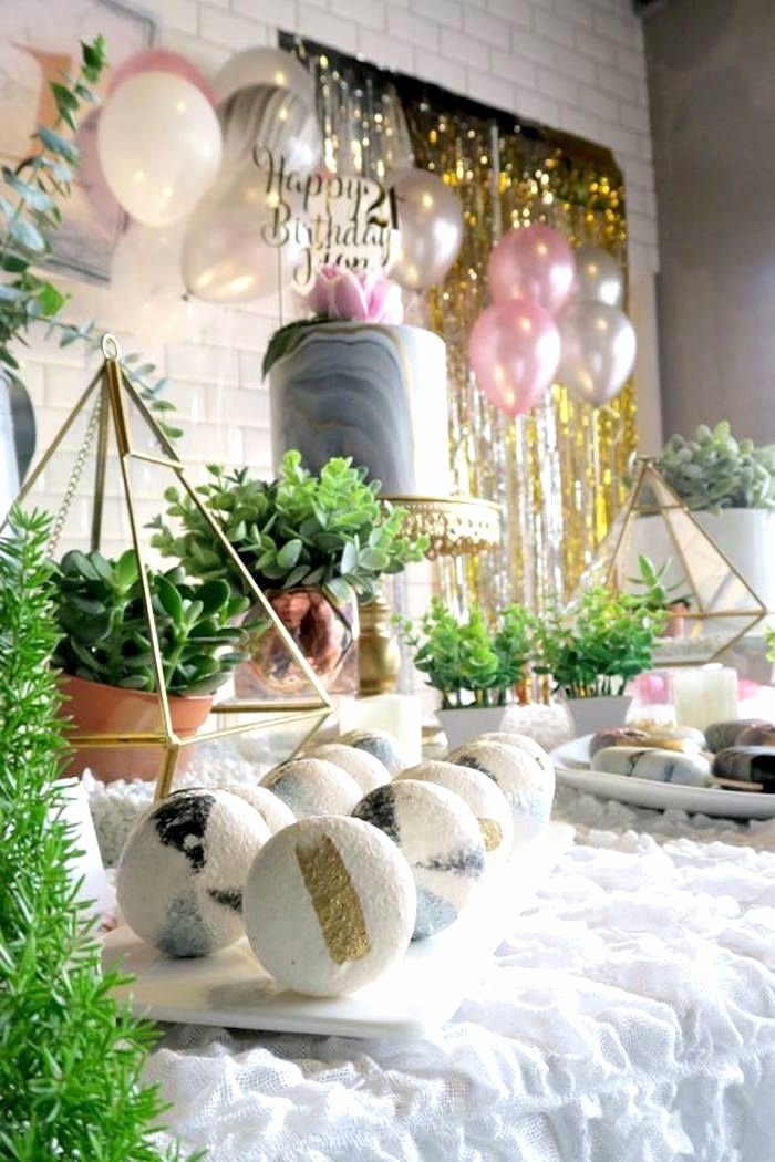 Elegant Birthday Decoration Ideas Inspirational Elegant Marble Inspired 21st Birthday Party