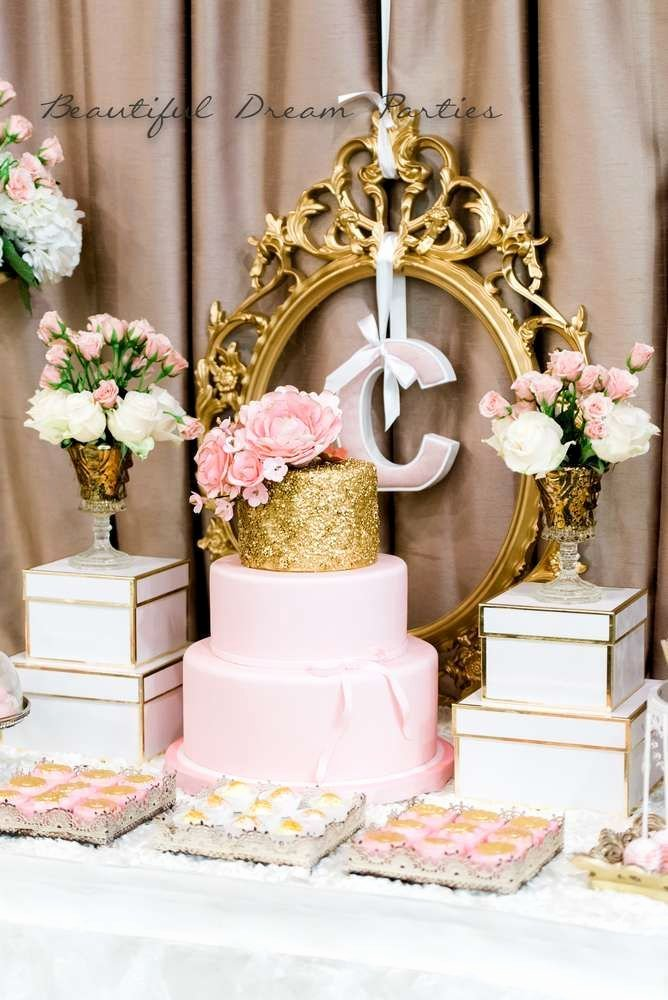 Elegant Birthday Decoration Ideas Unique Elegant Gold and Pink Birthday Party Ideas