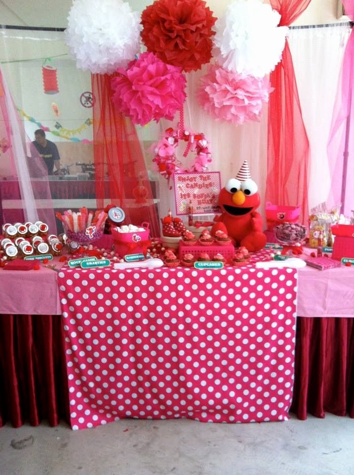 Elmo First Birthday Decoration Ideas Beautiful Elmo Party