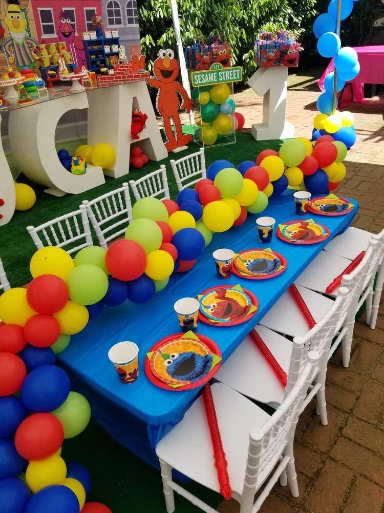 Elmo First Birthday Decoration Ideas Fresh Sesame Street Birthday Party Ideas 1 Of 17