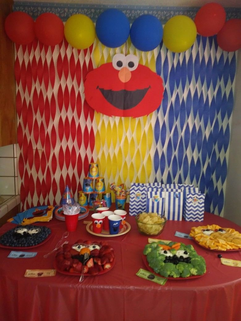 Elmo First Birthday Decoration Ideas Inspirational Elmo Birthday Party