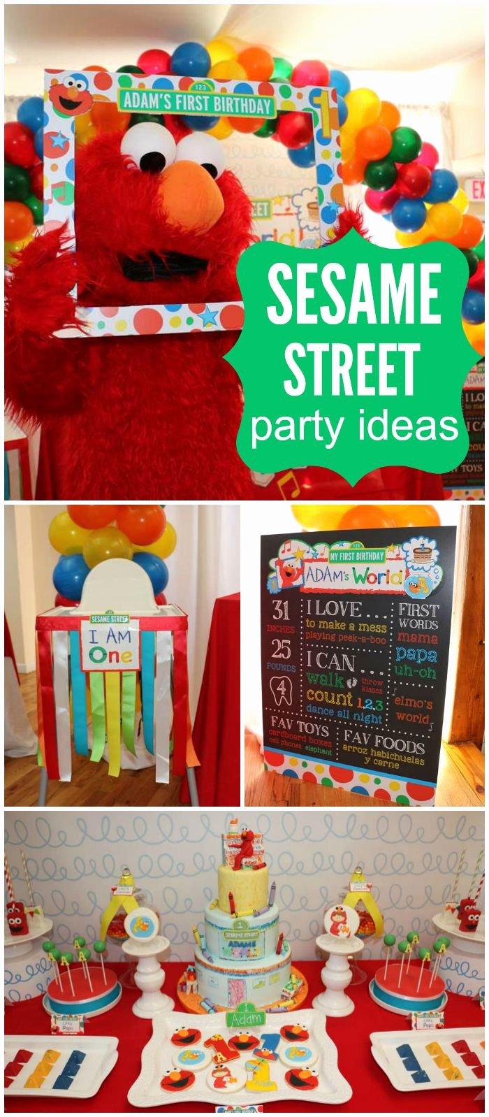 "Elmo First Birthday Decoration Ideas New Elmo S World Birthday ""adam S 1st Birthday"""