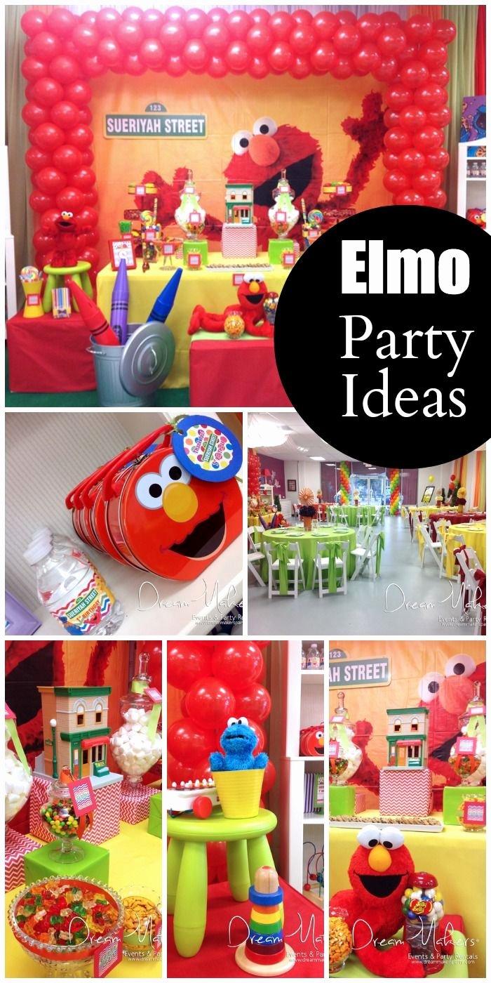 "Elmo First Birthday Decoration Ideas Unique Elmo & Sesame Street Birthday ""elmo 1st Birthday Party"
