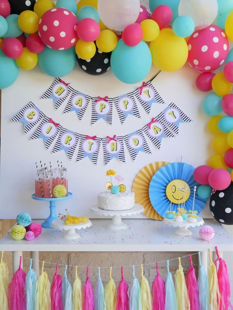 Emoji Birthday Decoration Ideas Awesome Sweet Emojis Birthday Party — Mint event Design