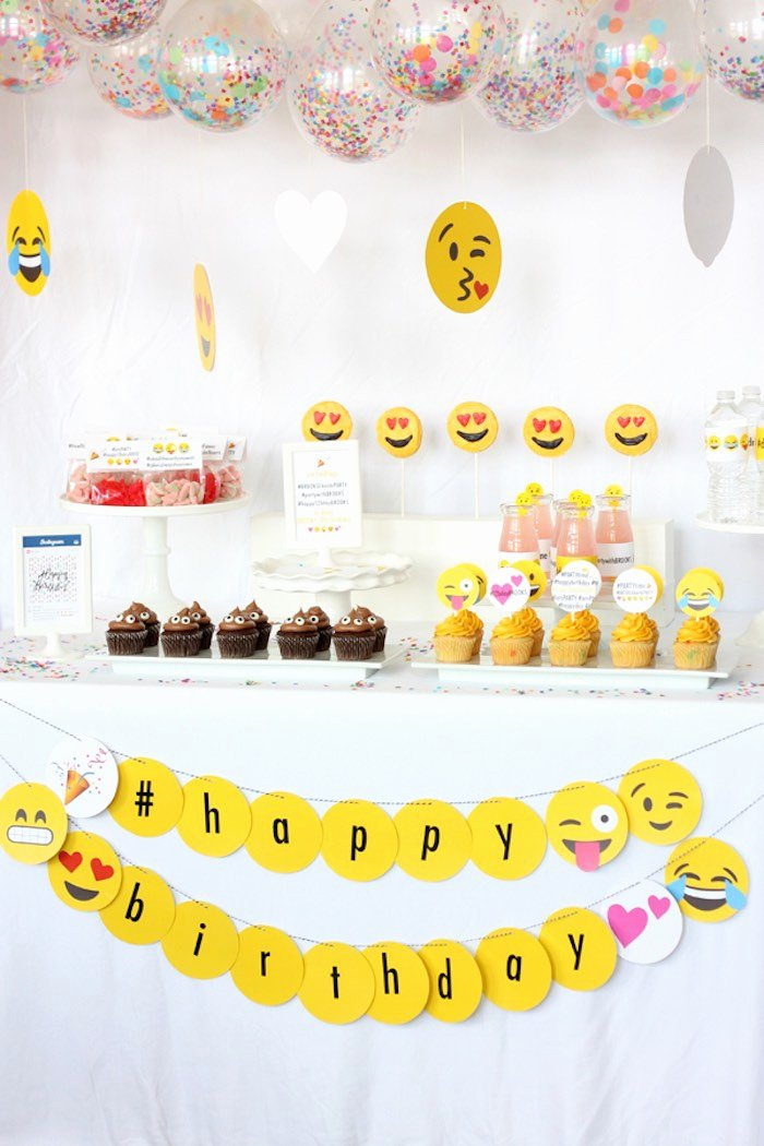 Emoji Birthday Decoration Ideas Best Of Kara S Party Ideas Instagram Emoji themed Teen Birthday