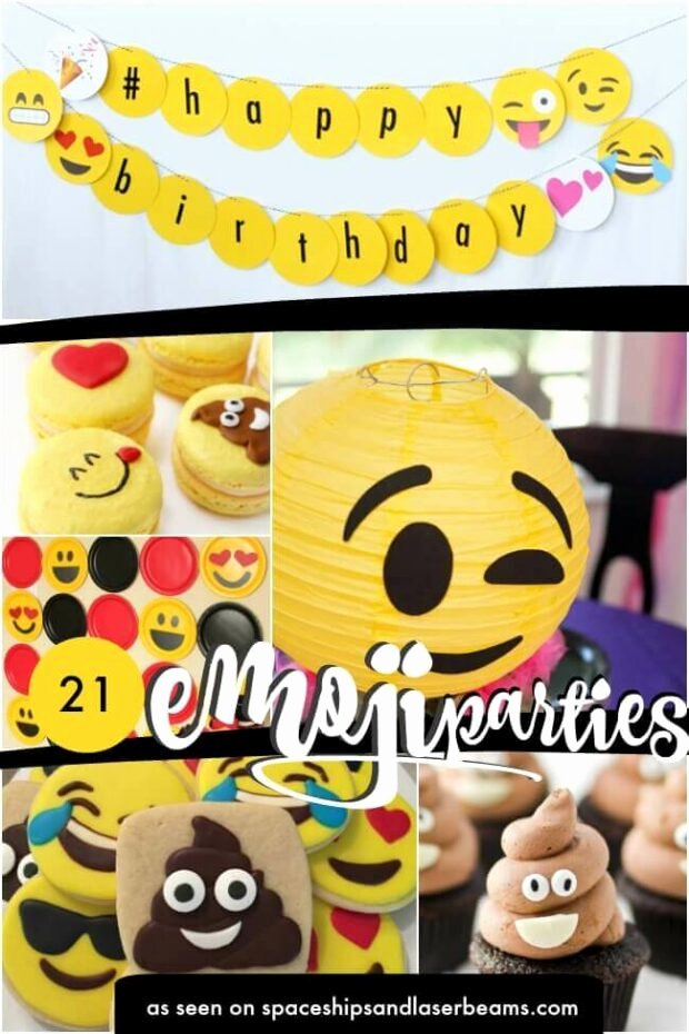 Emoji Birthday Decoration Ideas Lovely 21 Trendy Emoji Party Ideas Spaceships and Laser Beams