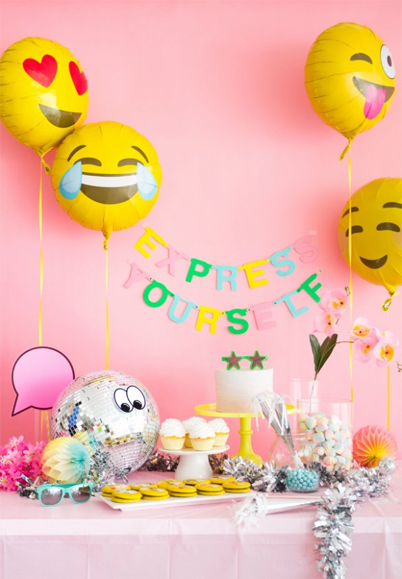 Emoji Birthday Decoration Ideas Luxury Emoji theme Birthday Decoration