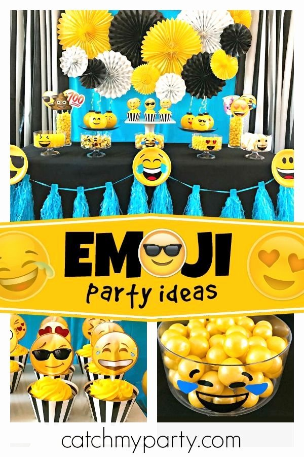 "Emoji Birthday Decoration Ideas New Emoji Birthday ""emoji Party"" Catch My Party"