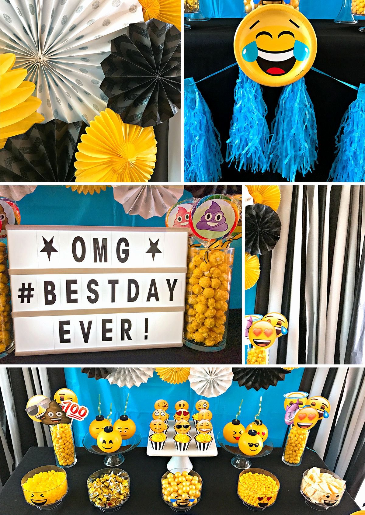 Emoji Birthday Decoration Ideas Unique Emoji Party Ideas