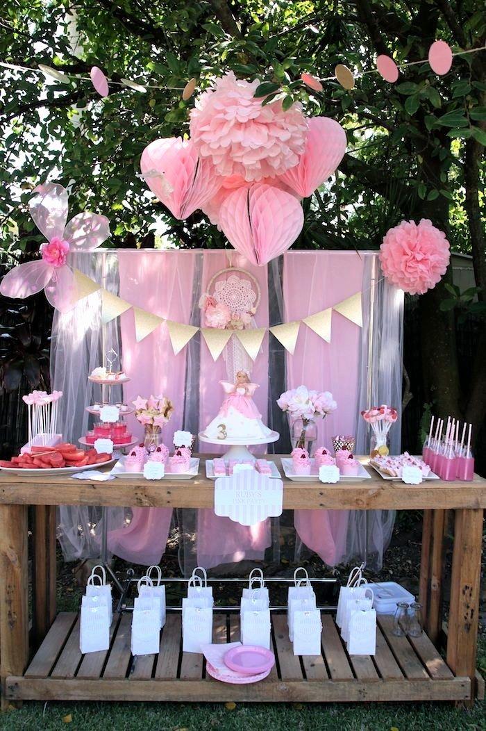 Fairy Birthday Decoration Ideas Elegant Pink Fairy Birthday Party Ideas Planning Decor Cake