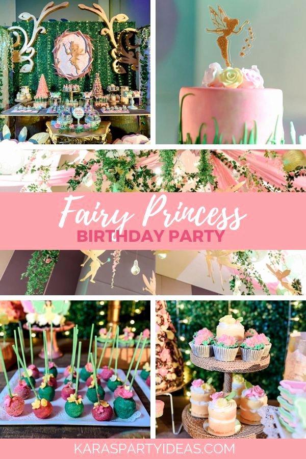 Fairy Birthday Decoration Ideas Fresh Fairy Princess Birthday Party Kara S Party Ideas
