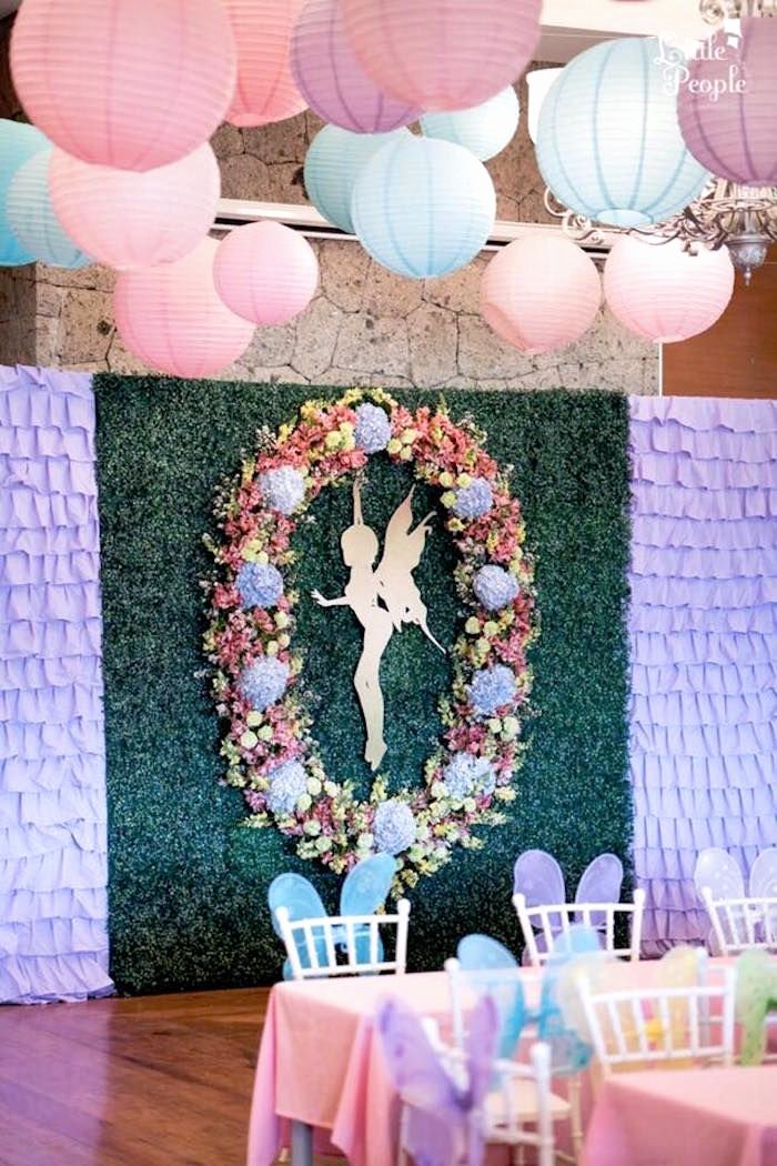 Fairy Birthday Decoration Ideas Inspirational Fairy Backdrop From A Flitting Fairy Garden Birthday Party
