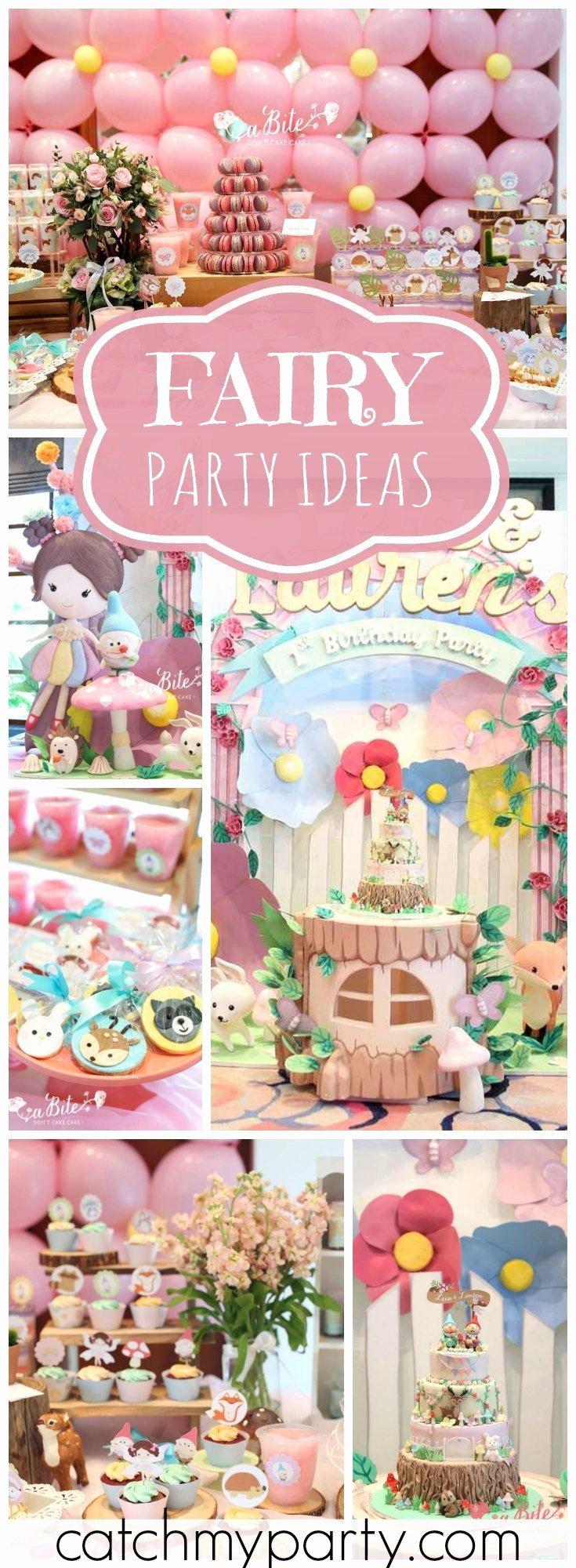 "Fairy Birthday Decoration Ideas Inspirational Fairy Birthday ""leia & Lauren S Fairy Garden"""