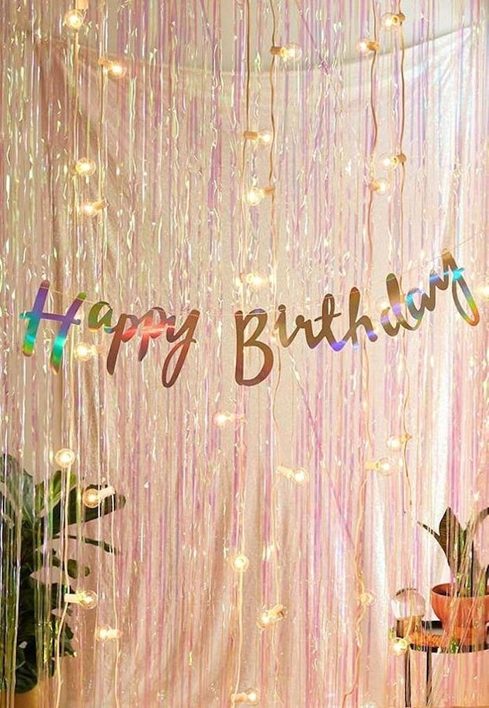 Fairy Lights Birthday Decoration Ideas Best Of Happy Birthday Pink Garlands Fairy Lights Fun Birthday Ideas
