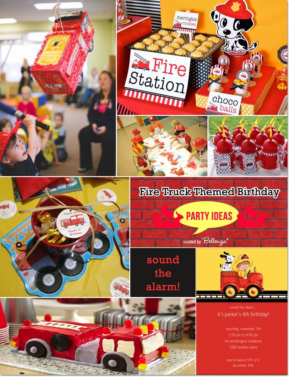 Fire Truck Birthday Decoration Ideas Best Of Fire Truck themed Birthday Ideas