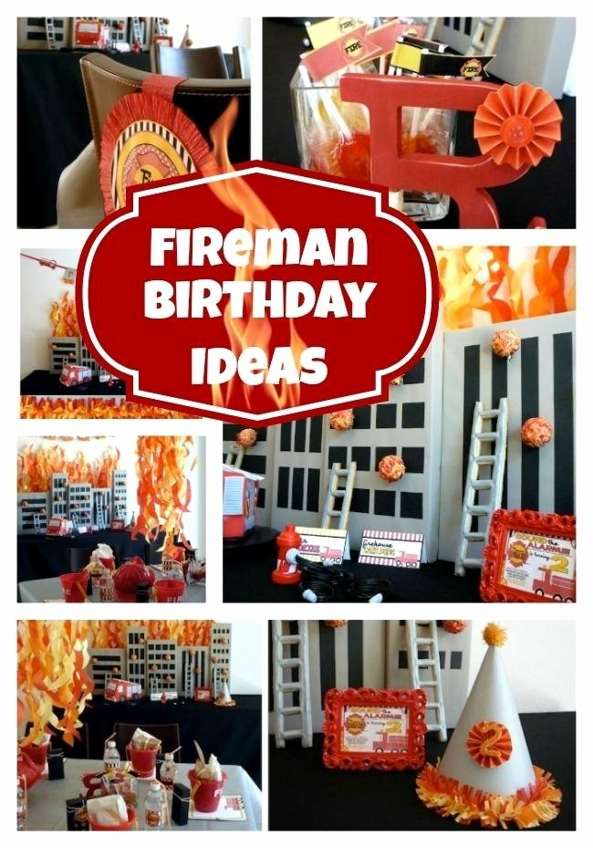 Fire Truck Birthday Decoration Ideas Fresh 16 Fireman Birthday Party Ideas Spaceships and Laser Beams