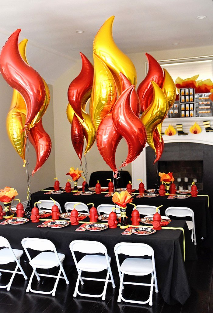 Fire Truck Birthday Decoration Ideas Lovely Kara S Party Ideas Firetruck Birthday Party