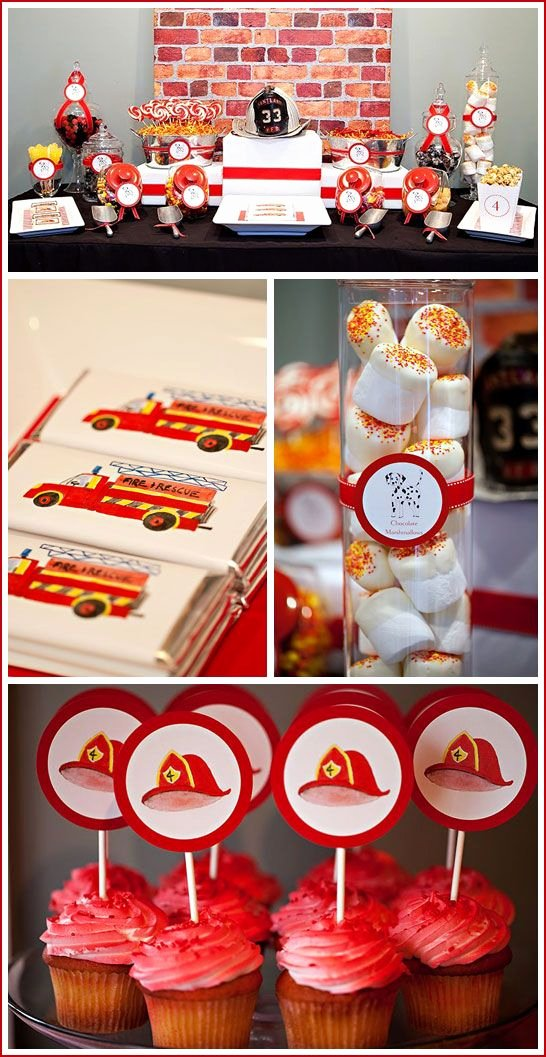 Fire Truck Birthday Decoration Ideas Lovely Real Party Fire Truck Birthday