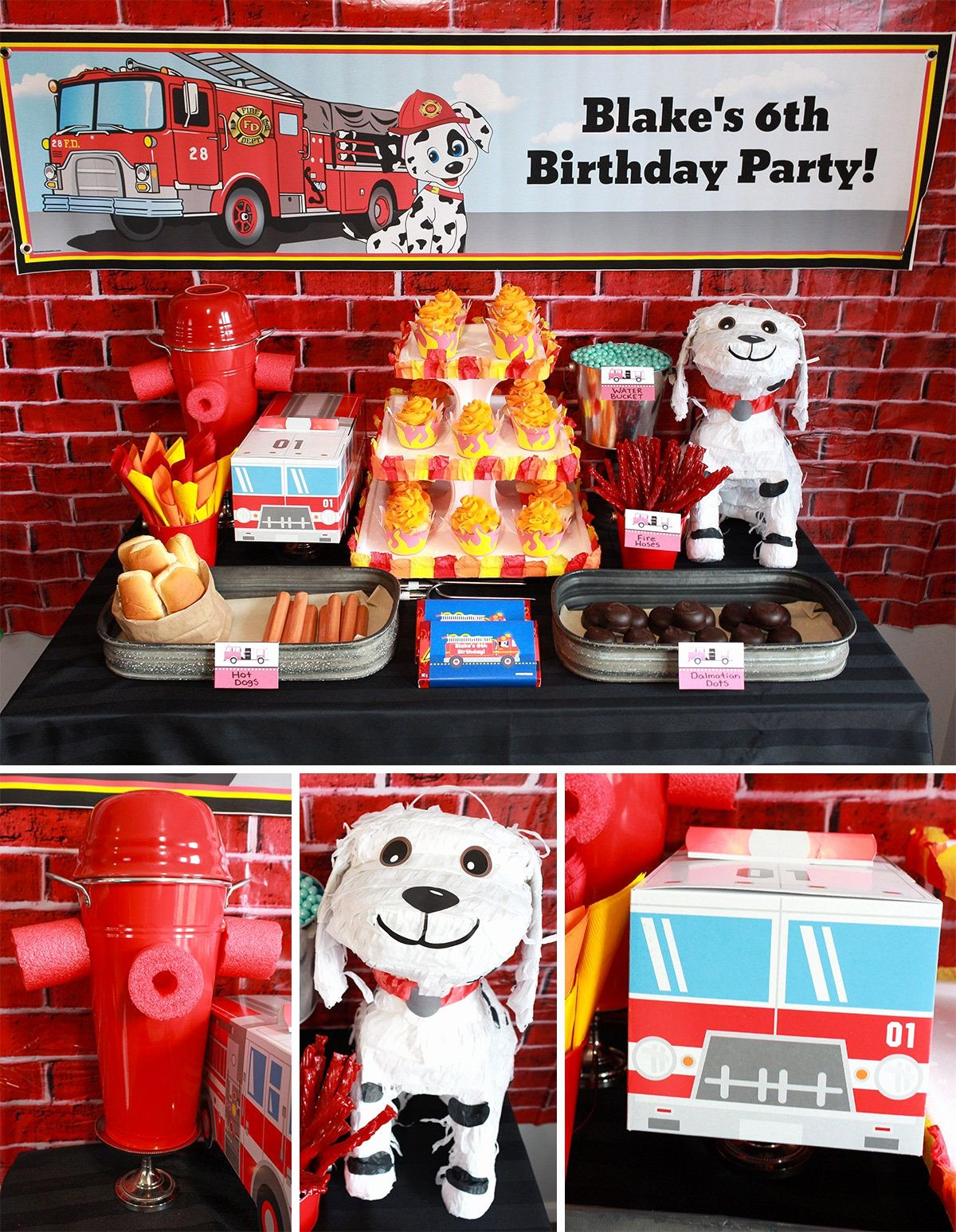 Fire Truck Birthday Decoration Ideas Luxury Fireman Party Ideas