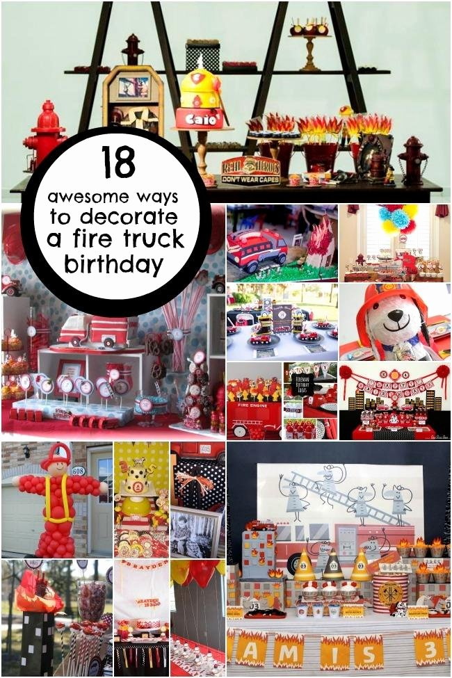 Fire Truck Birthday Decoration Ideas New 18 Boy S Fireman Birthday Party Decoration Ideas