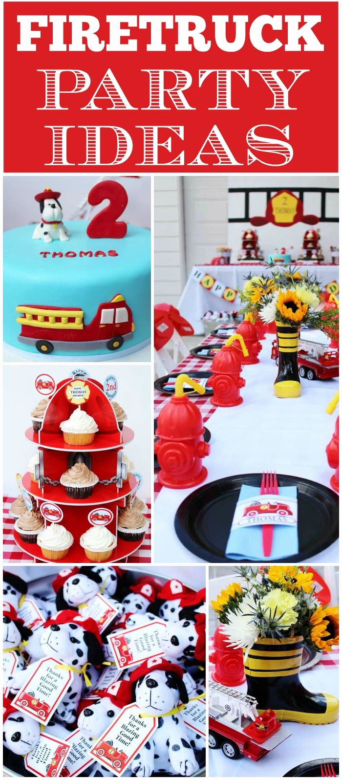 "Fire Truck Birthday Decoration Ideas New Fire Truck Firefighter Birthday ""thomas ""blaze Of A"