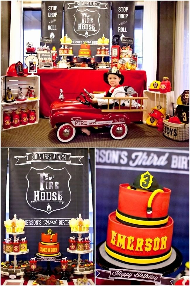Fire Truck Birthday Decoration Ideas Unique Pin by A Smith On Boys Birthday Ideas