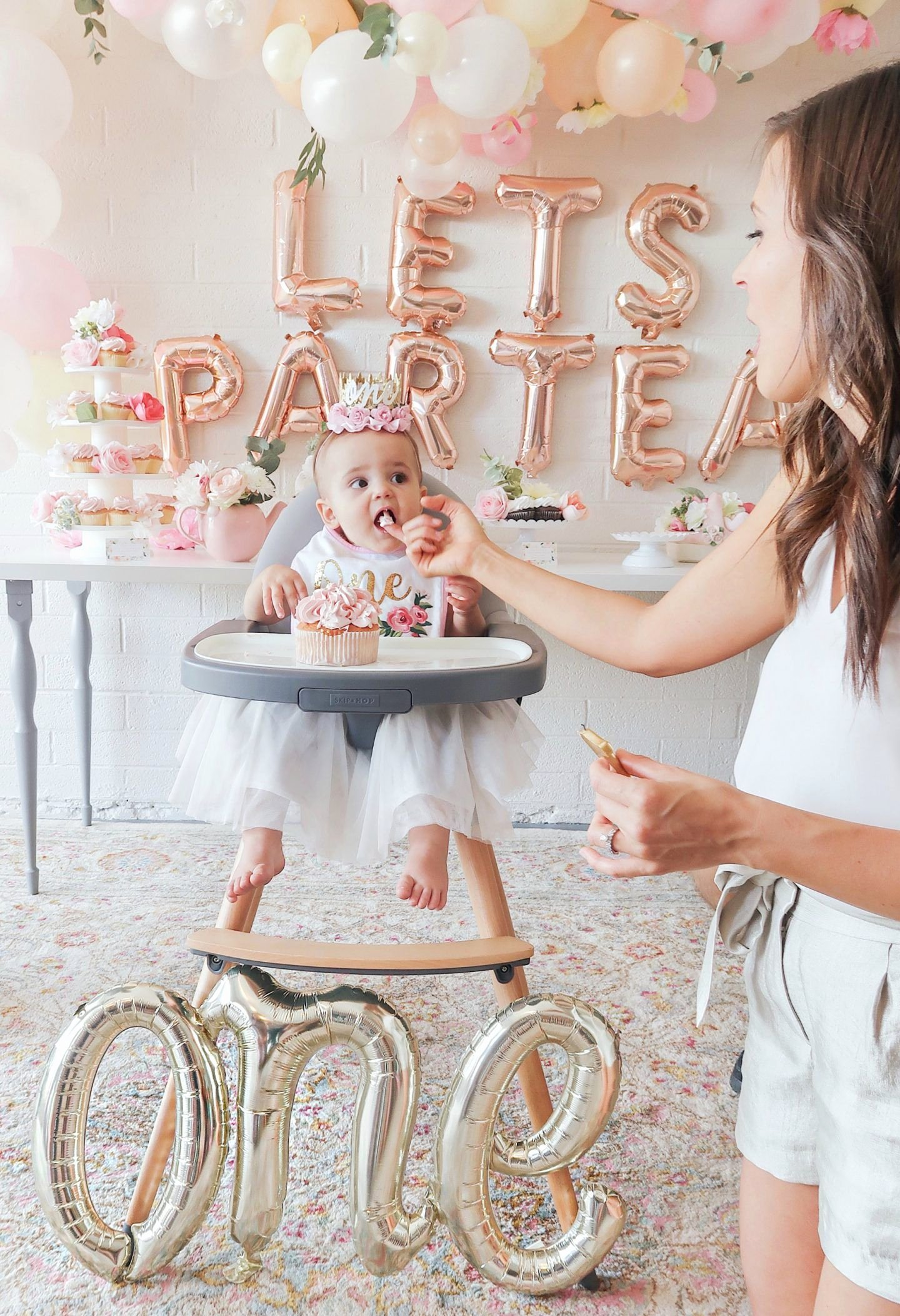 First Birthday Decoration Ideas for Baby Girl Best Of First Birthday Tea Party Lets Partea Girl Birthday Decor