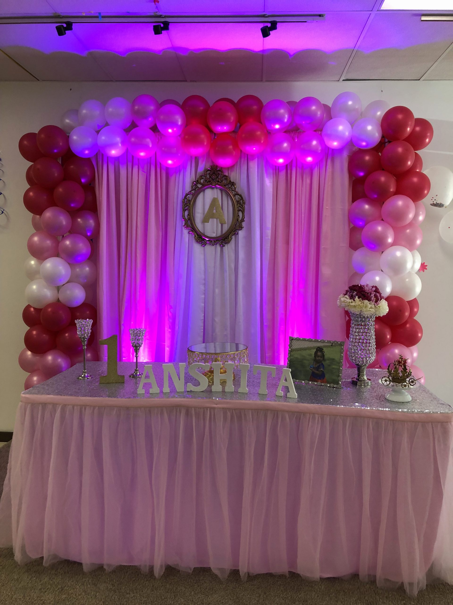 First Birthday Decoration Ideas for Baby Girl Elegant Baby Girl First Birthday Decorations at Biryani Pot Duluth