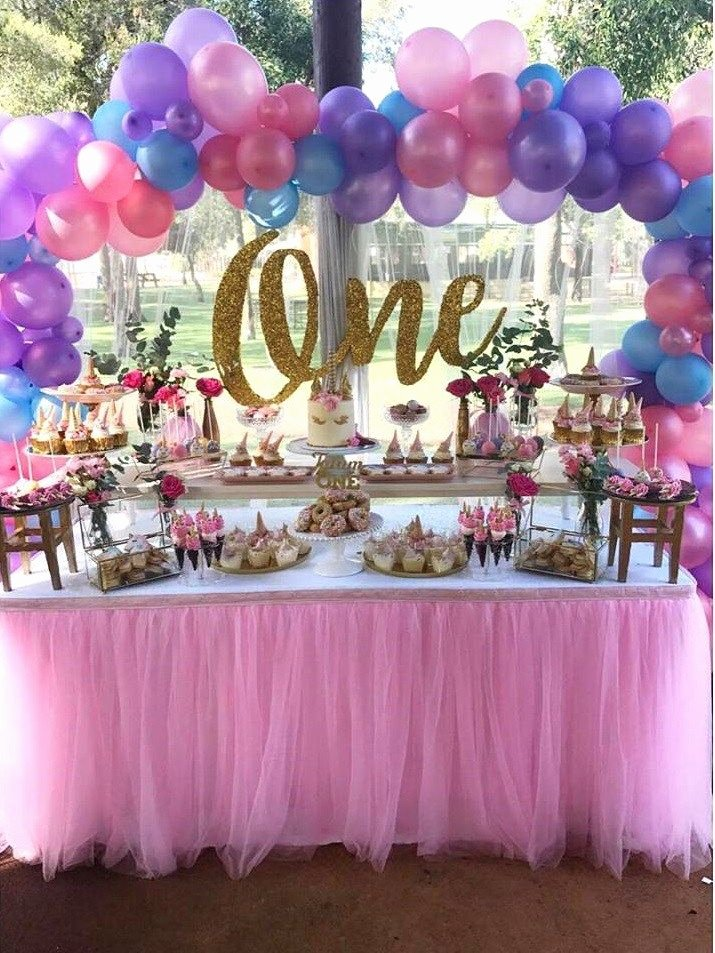 First Birthday Decoration Ideas for Baby Girl Elegant First Unicorn Birthday Party Decorations