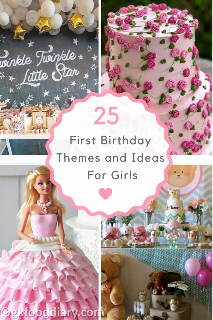 First Birthday Decoration Ideas Girl New 25 First Birthday themes and Ideas for Girls Birthday