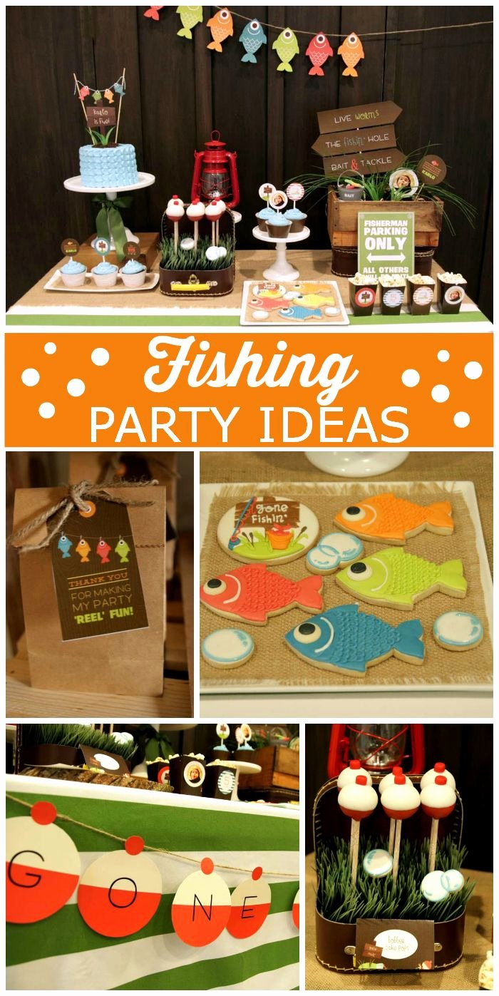 "Fishing Birthday Decoration Ideas Awesome Birthday ""gone Fishing Birthday"""