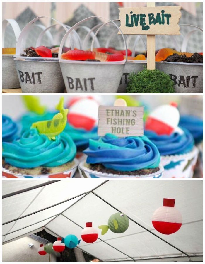 Fishing Birthday Decoration Ideas Awesome Kara S Party Ideas Colorful Gone Fishing Birthday Party