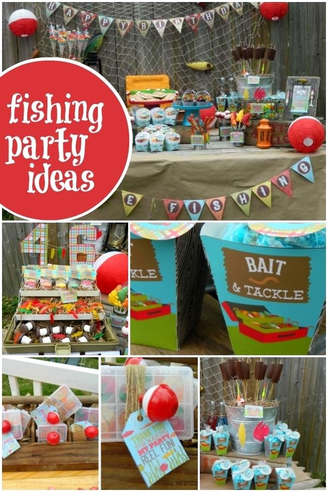 Fishing Birthday Decoration Ideas Elegant Vintage Gone Fishing Boy S Birthday Party with Images
