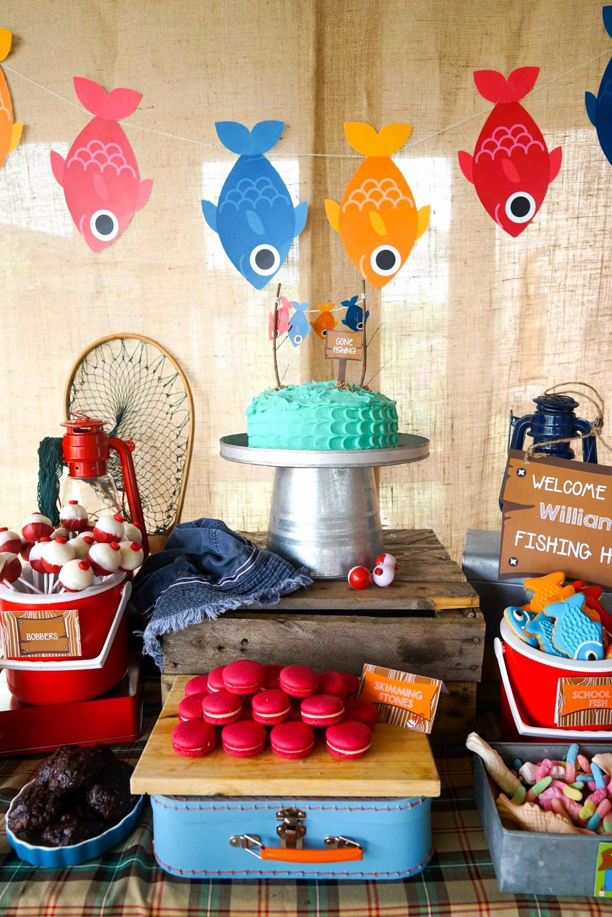 Fishing Birthday Decoration Ideas Inspirational Boys Fishing Party Ideas Printable Party Decorations