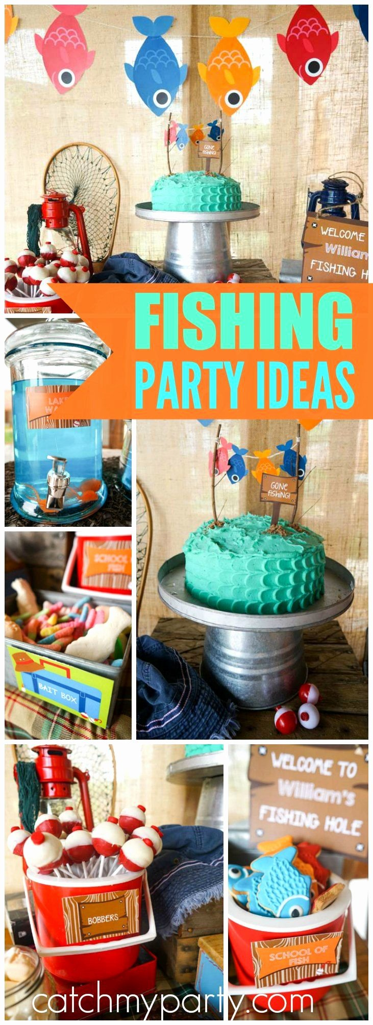 "Fishing Birthday Decoration Ideas New Fishing Party Birthday ""william S Gone Fishing Party"