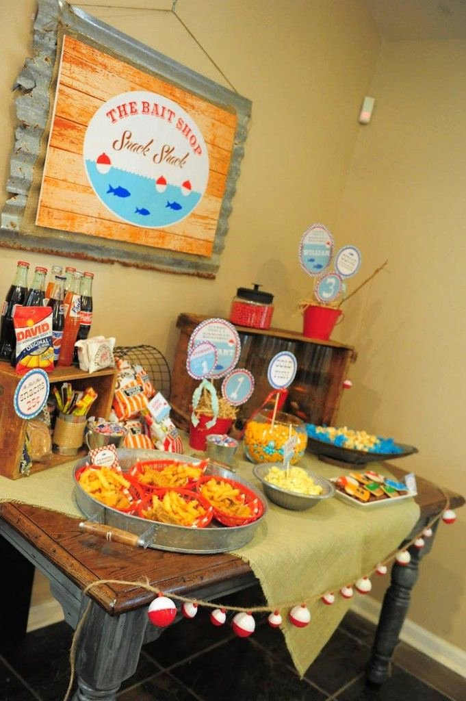 Fishing Birthday Decoration Ideas Unique Baby Boy Birthday Party Fishing theme