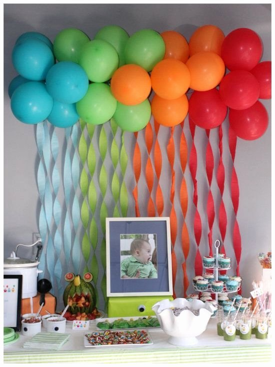 For Birthday Decoration Ideas New Party Planning Decorating with Balloons without Helium