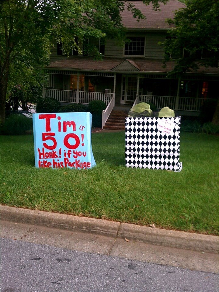 Funny 50th Birthday Decoration Ideas Inspirational 50th Birthday Yard Surprise