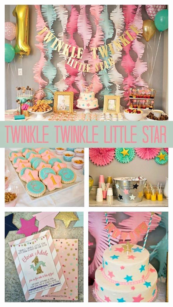 Girl 1st Birthday Decoration Ideas Beautiful Twinkle Twinkle Little Star First Birthday Pretty My Party