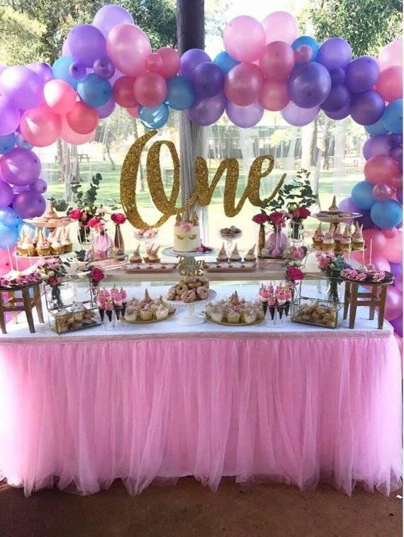 Girl 1st Birthday Decoration Ideas Fresh First Unicorn Birthday Party Decorations Babyshowerideas4u
