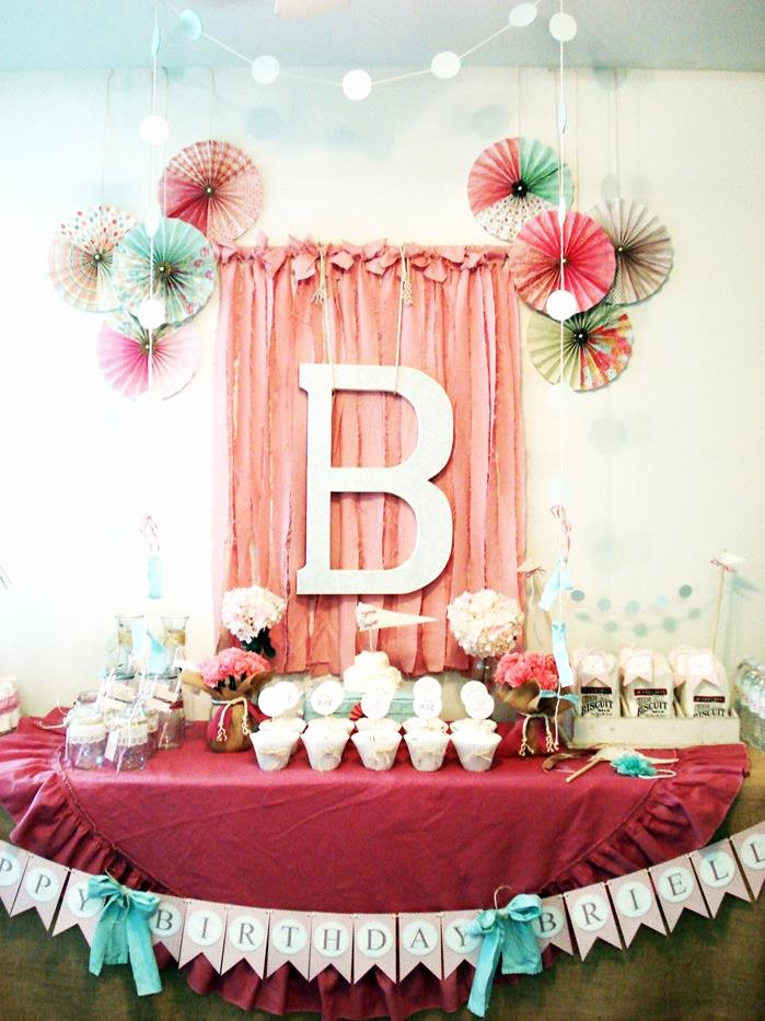 Girl 1st Birthday Decoration Ideas Inspirational Kara S Party Ideas Vintage Chic 1st Girl Boy Birthday Party