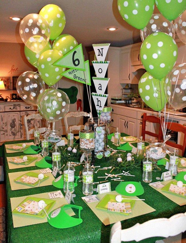 Golf Birthday Decoration Ideas Fresh Golf Party Noah is 6