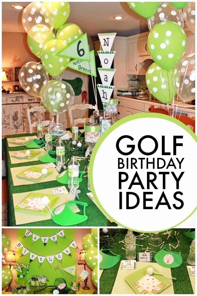 Golf Birthday Decoration Ideas Lovely Golf themed 6th Birthday Boy Party Spaceships and Laser