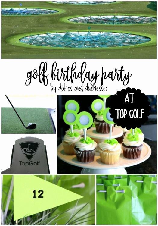 Golf Birthday Decoration Ideas Luxury Golf Birthday Party at top Golf with A Few Crafty Ideas to