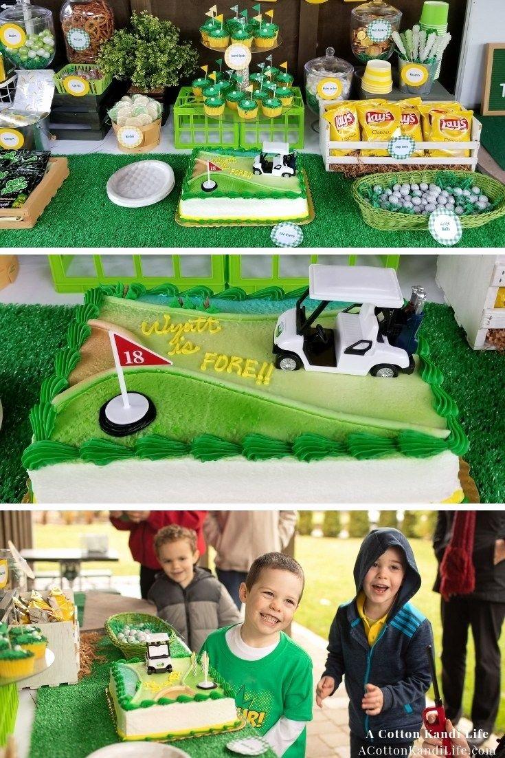 Golf Birthday Decoration Ideas Luxury Wyatt is A Golfer so the Golf Birthday Party theme Was An