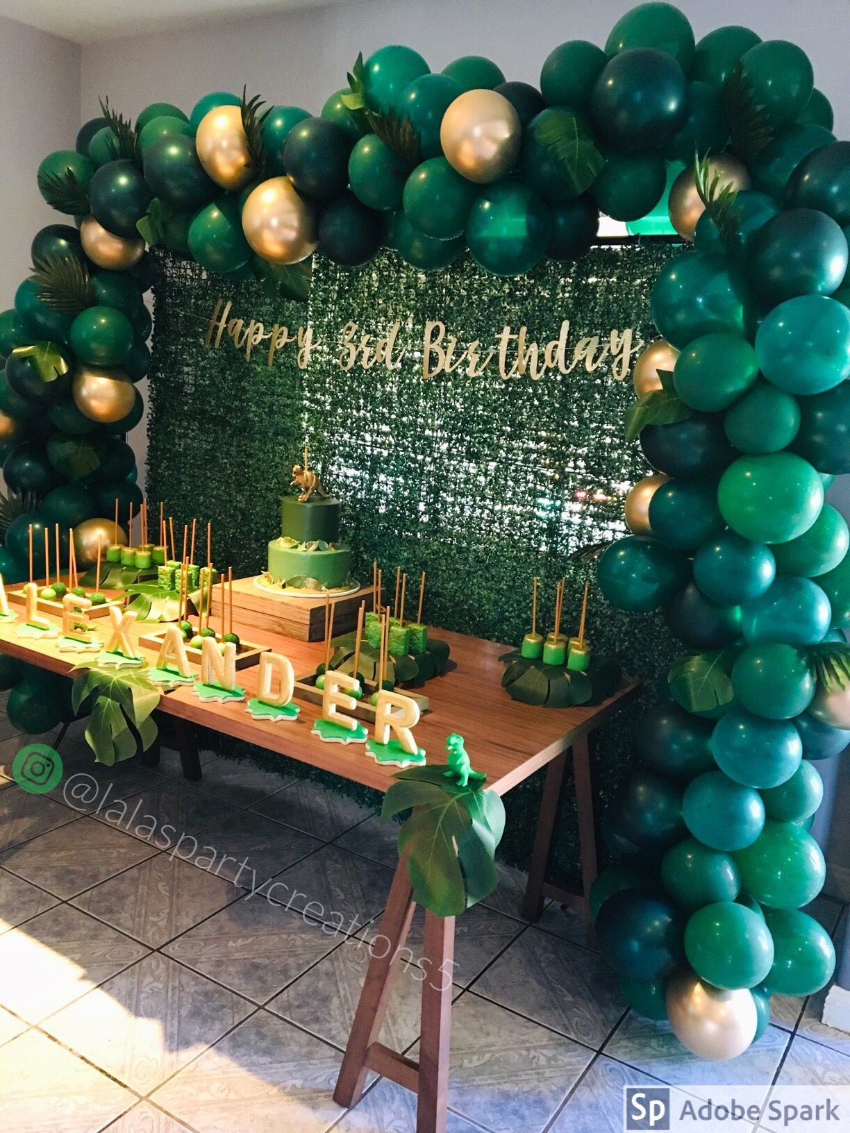 Green and Gold Birthday Decoration Ideas Best Of Dinosaur theme