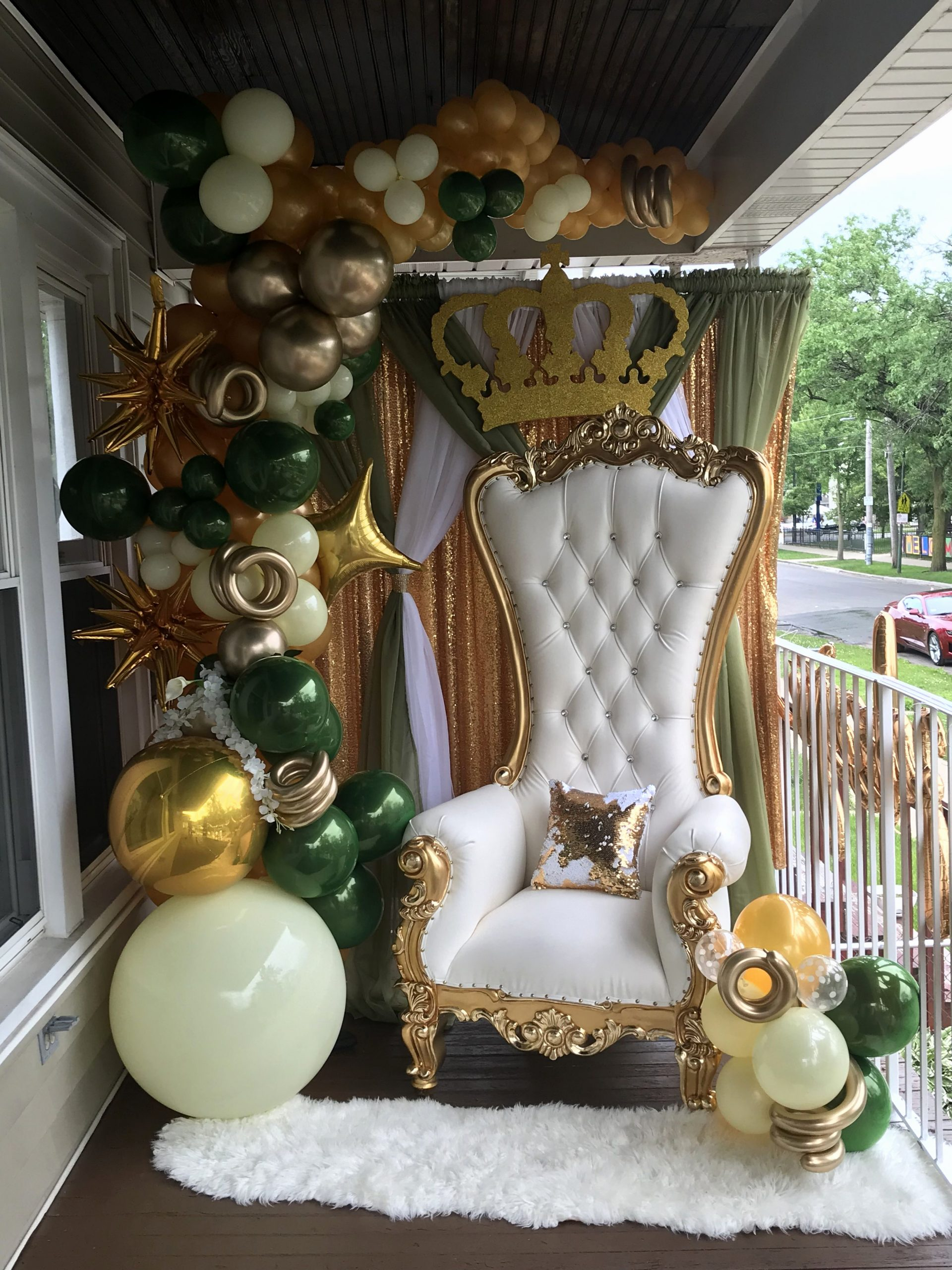 Green and Gold Birthday Decoration Ideas New Sensational Prom Send Off Olive Green Gold and Cream
