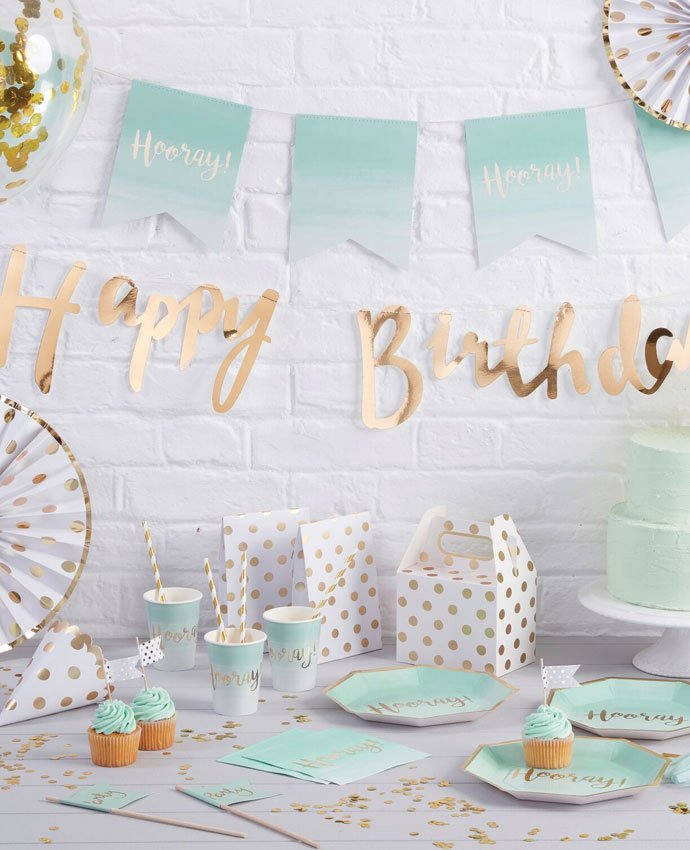 Green and Gold Birthday Decoration Ideas Unique Mint Green & Gold Party Ideas