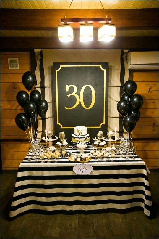 Guy Birthday Decoration Ideas Awesome 30th Birthday Party Decorations for Men 23 Cute Glam 30th